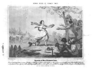 Heroism of Miss Elizabeth Zane Library of Congress 3a06055u